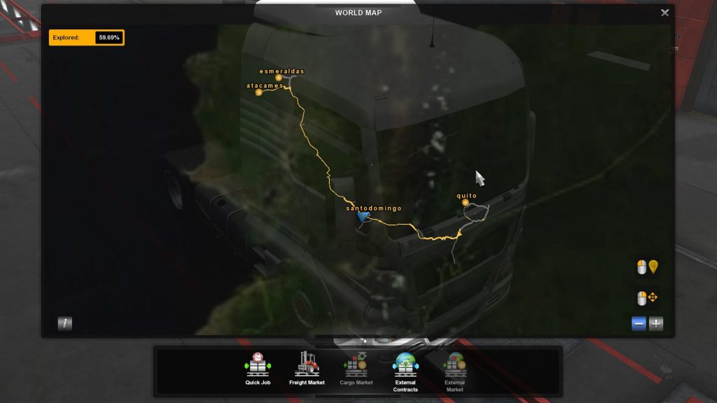 Ecuador Map Mod Save Game Profile ETS2 1.36