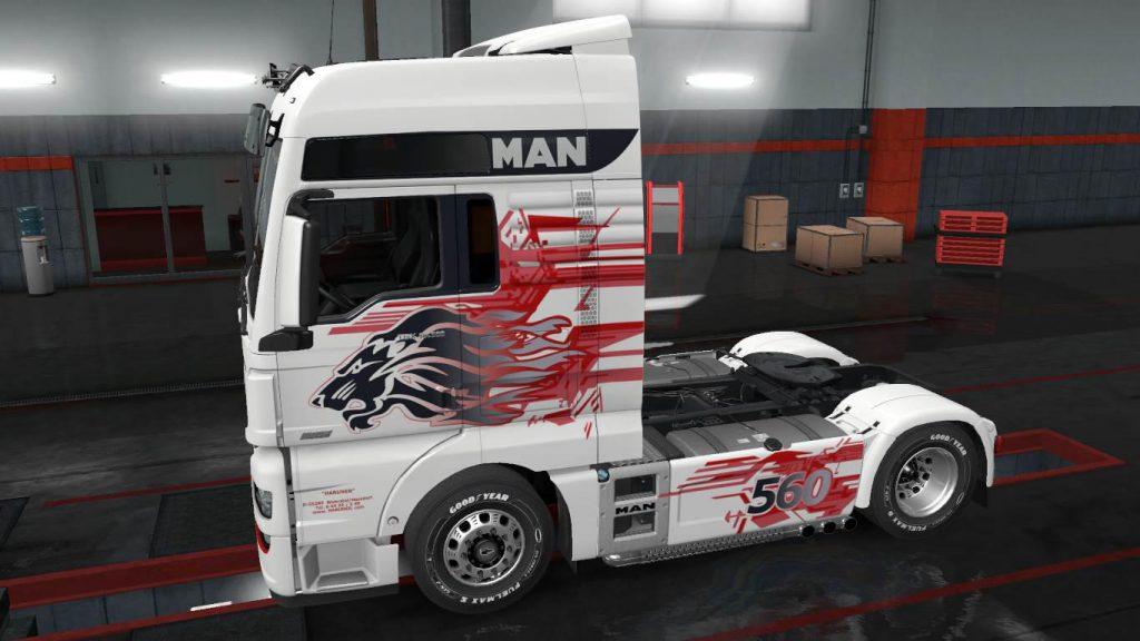 MAN TGX Euro6 Lion skin v1.0