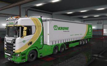 SCANIA S 2016 + trailer KRONE The Power Of Green Skin v1.0