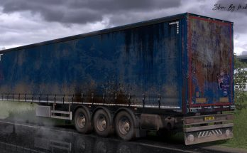 Worn Curtain Trailer Skin Pack v1.0