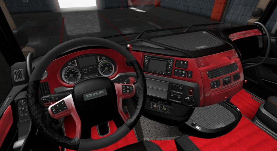 DAF E6 Red Wood Interior 1.36.x