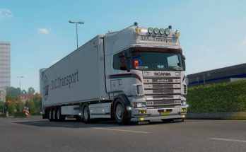 Scania R4 Dutch Container Transport skin v1.0