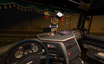 Interior view for the DAF XF105 truck v1.0