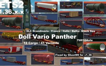 Doll Vario Panther 7-10 Axle for ETS2 1.36