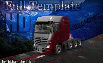 Mercedes Actros 2014 Template in 4K 1.36.x