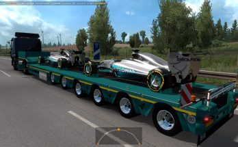 Mercedes AMG Petronas in traffic 1.36