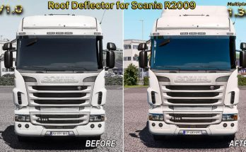Roof Deflector for Scania R2009 for Multiplayer v1.0