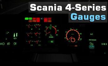 Scania 4-Series Gauges v1.0