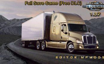 FULL SAVE GAME ATS (FREE DLC) MPMODS 1.37