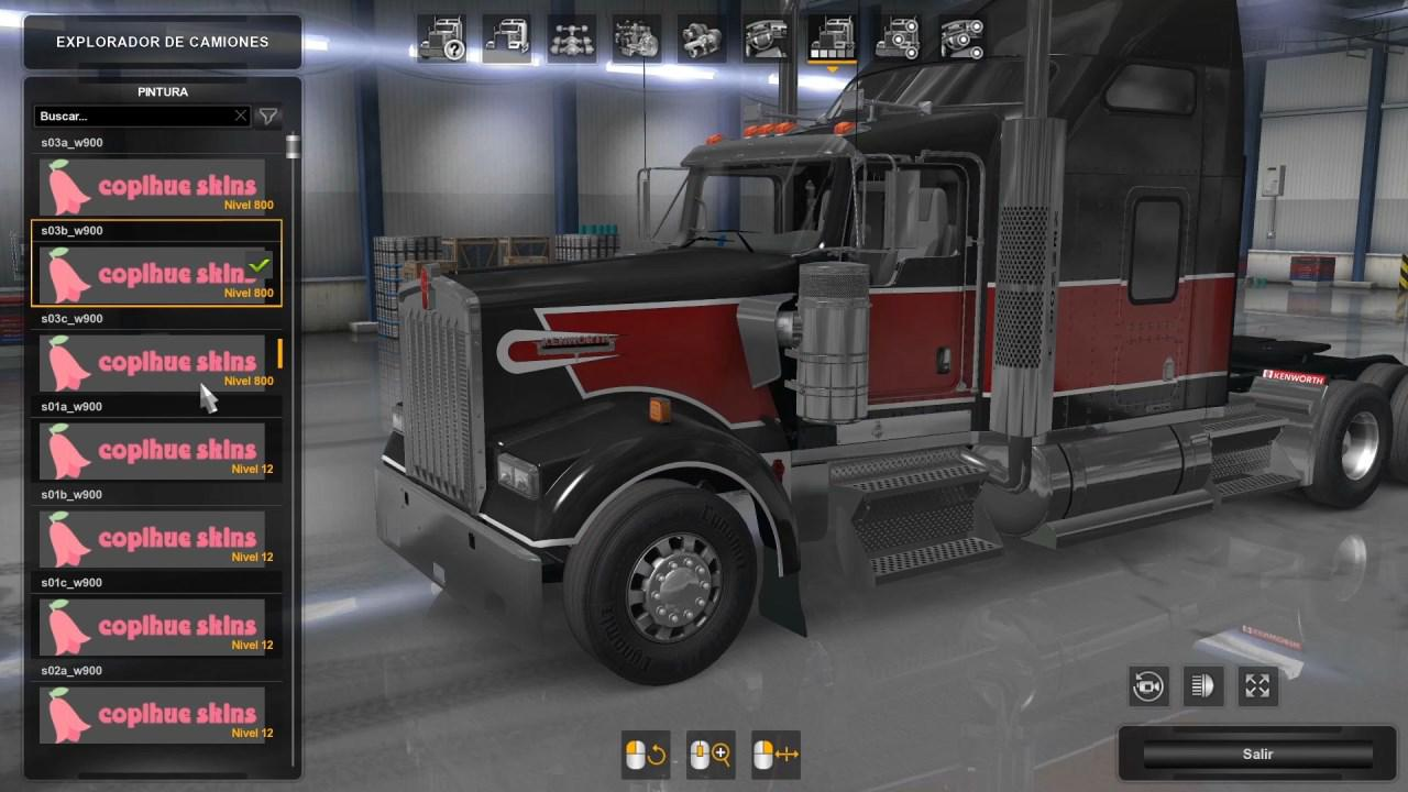 SKIN PACK PHOENIX STYLE FOR KENWORTH W900 BY EDISON 1.36.X