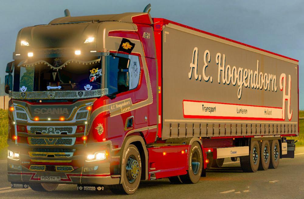 ComboSkin A.E. Hoogendoorn for Scania R 2016 and trailer v1.0
