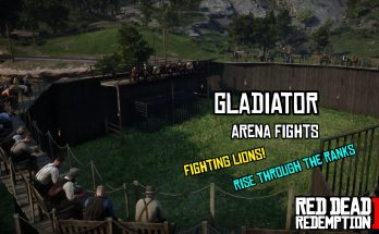Gladiator Arena With Bleacher
