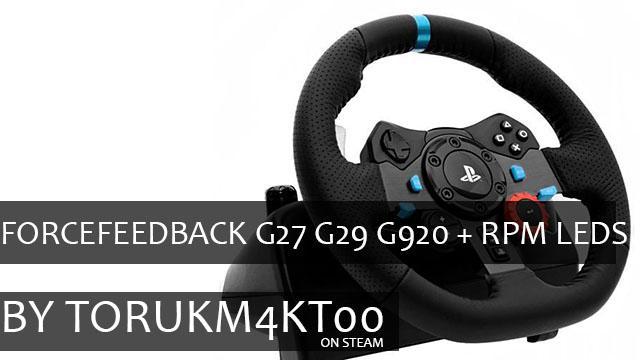 ForceFeedBack G27 G29 G920 + RPM Leds 1.37