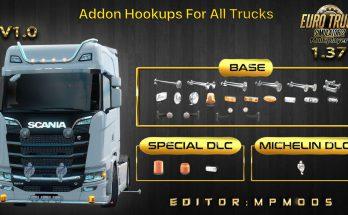 Addon Hookups For All Trucks V1.0 For Multiplayer ETS2 1.37