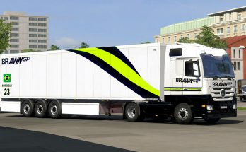 Brawn GP Livery Combo for MB and SCS Box Trailers v1.0