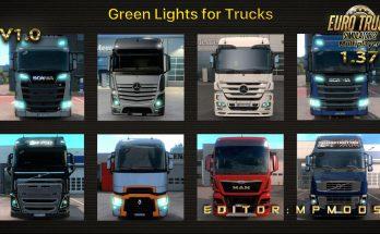 Green Lights For Trucks V1.0 For Multiplayer ETS2 1.37