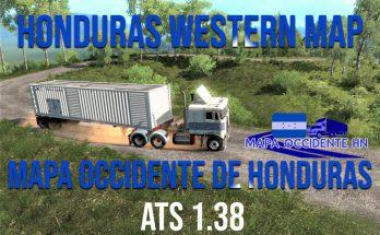 HONDURAS WESTERN MAP ATS 1.38