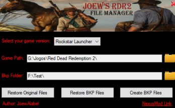 Joew's RDR2 File Manager