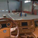 Brown & Alcantara Interior for Scania NG 1.38