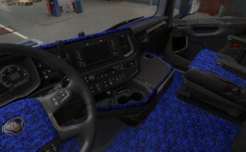Scania NextGen S & R Blue Pluche Interior v1.0