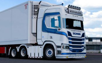 Changeable metallic stripe for Scania R 1.38