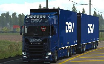 DSV Tandem skin by kRipt for Scania S by Eugene and Kast v1.3