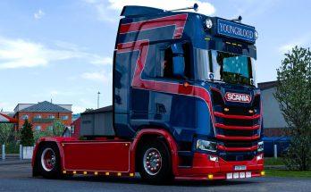 Dutch Style metallic Skin for Scania S v1.0