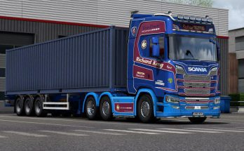 Richard King Haulage skin for Scania S 1.38