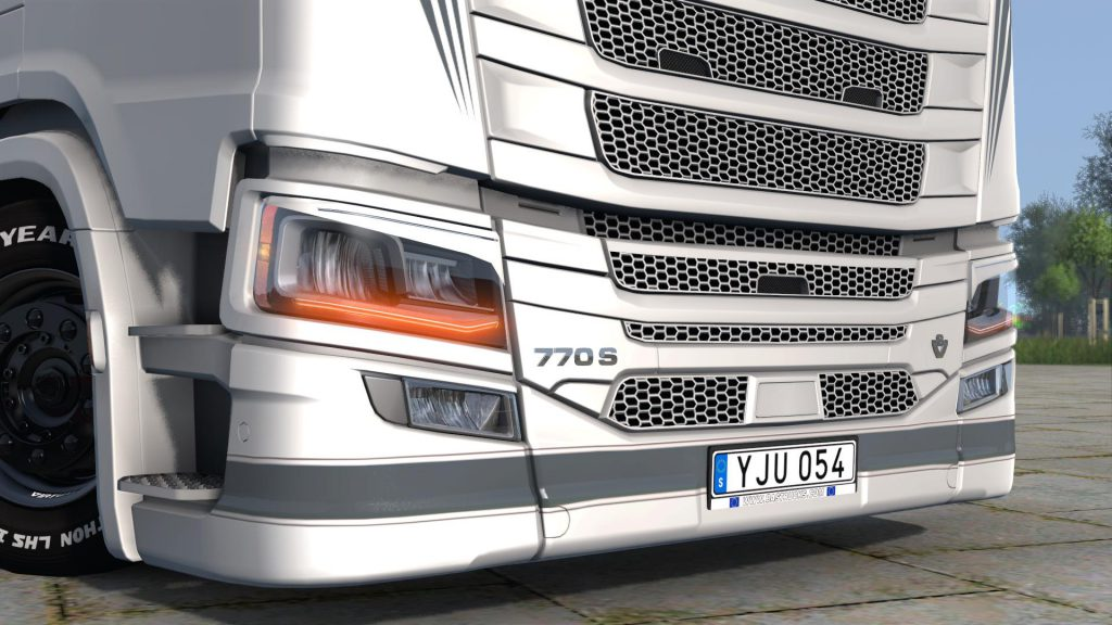 Scania 770S Engine + Badges 1.38