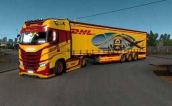 Skin DHL TNT Trucks & Trailers 1.38