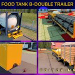 Food Tank B-Double And HCT Trailer Mod For ETS2 Multiplayer v1.0