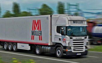 Muller Transporte Scania and Coolliner v1.0