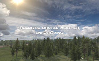 REALISTIC BRUTAL WEATHER UNFORGIVING ATS V1.0 1.38-1.39