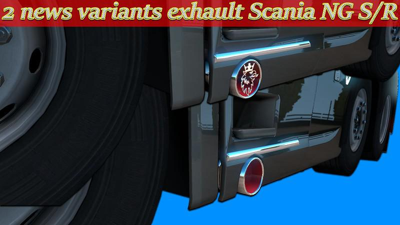 Exhaust Scania NG S/R v 1.0