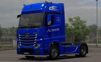 Mercedes Actros MP4 Blue-White Holland Skin 1.39