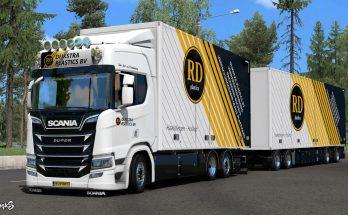 Scania R & S Dijkstra Plastics Skin Pack v1.0