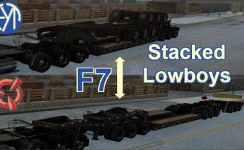 STACKED SCS LOWBOY TRAILERS V1.0