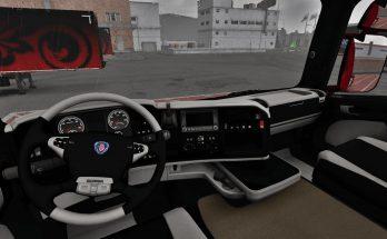 Scania R Black-White Interior 1.39