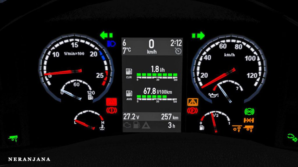 SCS + RJL Scania R&S Dashboard g.3 1.39