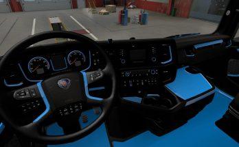 Blue Interior for Scania 2016 v1.0