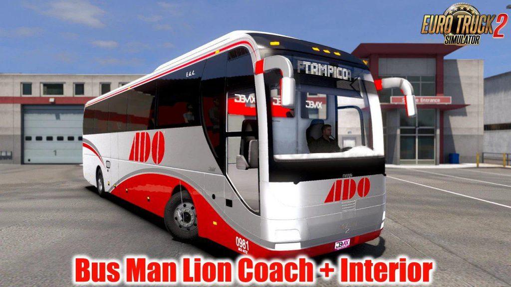 Bus MAN Lion Coach + Interior v1.5 1.39.x