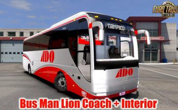 Bus MAN Lion Coach + Interior v1.5 1.39.x