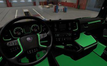 Green Interior for Scania 2016 v1.0