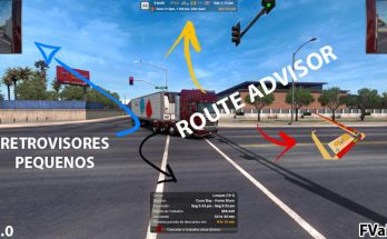 ROUTE ADVISOR AND RETROVISORES FOR ETS2 v1.0