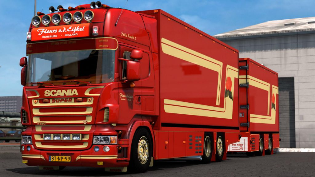 Scania R 620 Fleurs witch Trailer 1.39