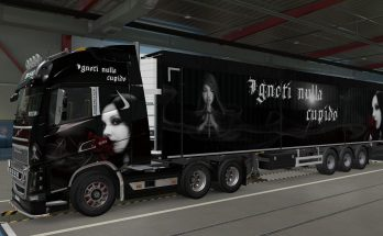 Skin for Volvo FH16 2012 and trailers Gothic Woman 1.40