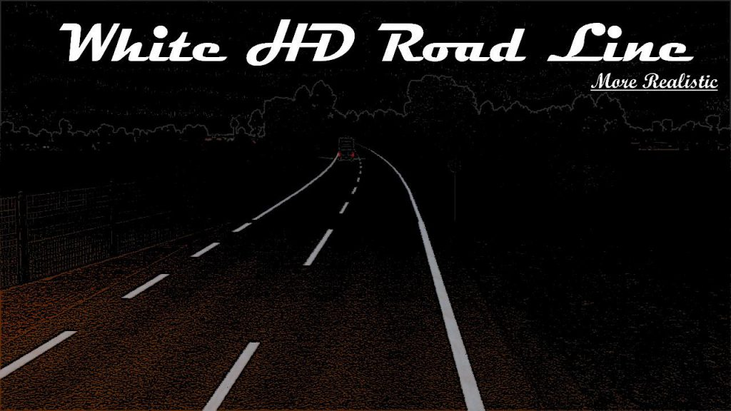 White/Yellow HD Road Narrow v1.0