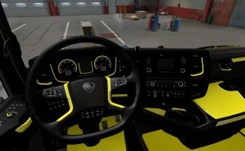 Yellow Interior for Scania S & R 2016 v1.0