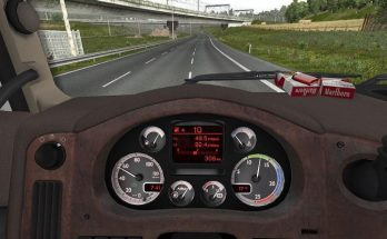 Custom dashboard for DAF XF 105 v1.2 1.39