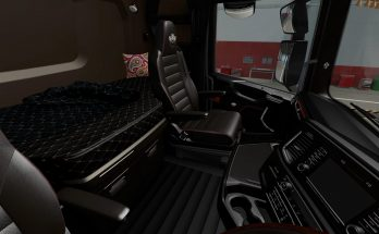 Dark brown Interior Scania 2016 v0.8 Beta